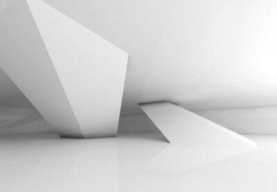 Carta da parati Colonne Iinclined e ombre morbide, rendering 3d