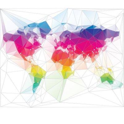 Carta da parati colorato disegno mappa del triangolo mondo