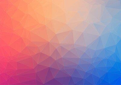 Carta da parati Colorato sfondo geometrico con triangoli