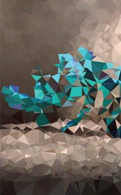 Carta da parati Colorato sfondo poligonale
