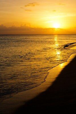 Carta da parati Colorato tramonto sul mare.