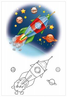 Carta da parati colorazione di astronave