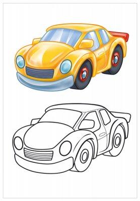 Carta da parati colorazione di auto giocattolo giallo