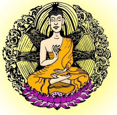 Carta da parati colore Buddha.