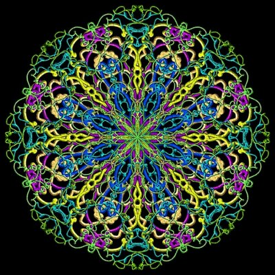 Carta da parati colore Mandala