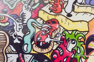 Carta da parati colorés graffiti