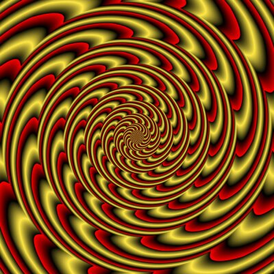 Carta da parati Colorful abstract hypnotic colorful tunnel