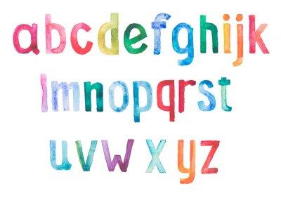 Carta da parati Colorful acquerello aquarelle tipo di font draw mano a mano
