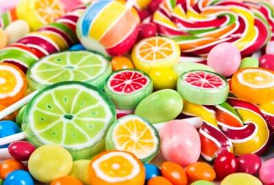 Carta da parati Colorful lollipops and different candy