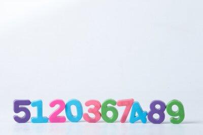 Carta da parati Colorful numeri assortiti