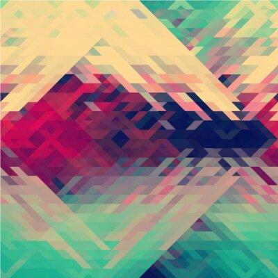 Carta da parati colori dell'arcobaleno triangolare vettore modello