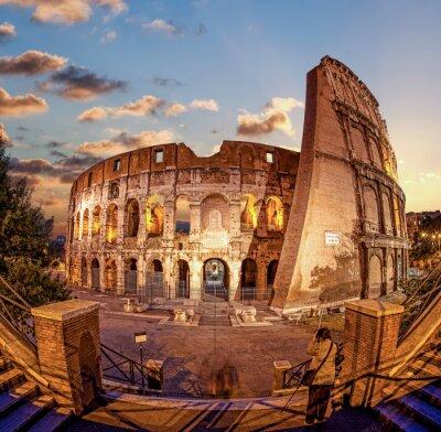 Carta da parati Colosseo la sera, Roma, Italia