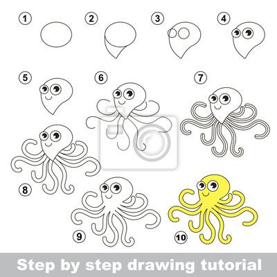 Come disegnare un polpo carta da parati • carte da parati lezione ... 34ee4dda3769