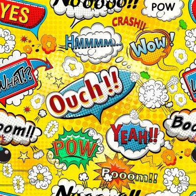 Carta da parati Comic discorso bolle senza soluzione di continuità illustrazione modello