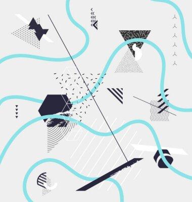 Carta da parati Composizione astratta geometrica minimale