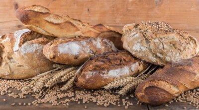 Carta da parati Composizione di vari tipi di pane