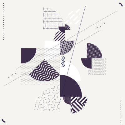 Carta da parati Composizione geometrica astratta