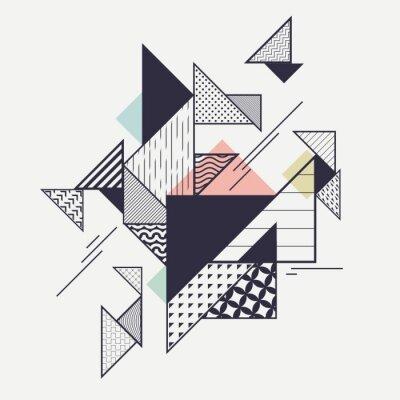 Carta da parati Composizione geometrica moderna astratta