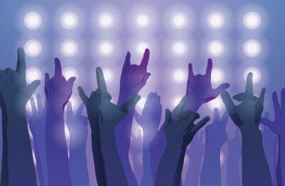 Carta da parati Concerto rock. Mani in alto.