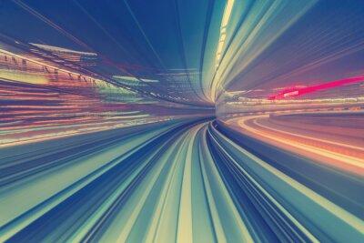 Carta da parati concetto di tecnologia ad alta velocità tramite una monorotaia Tokyo
