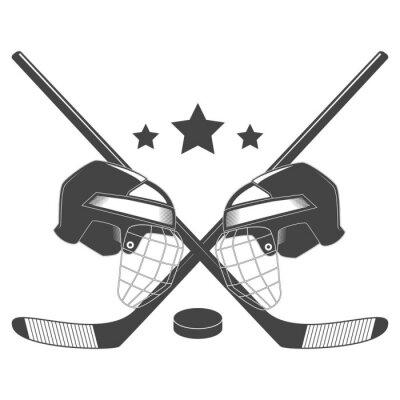 Carta da parati concorrenza Hockey chempionship logo vettoriale