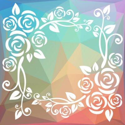 Carta da parati confine astratto poligonale