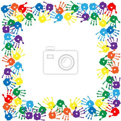 0fd869c410 Carta da parati: Cornice di stampe colorate a mano
