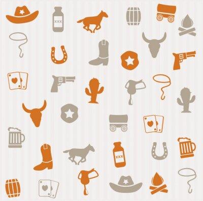 Carta da parati Cowboy seamless pattern
