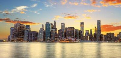 Carta da parati Crépuscule à Manhattan, New York.