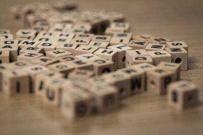 Carta da parati cubi di legno