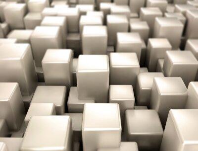 Carta da parati cubi metallici forme di metallo sfondo