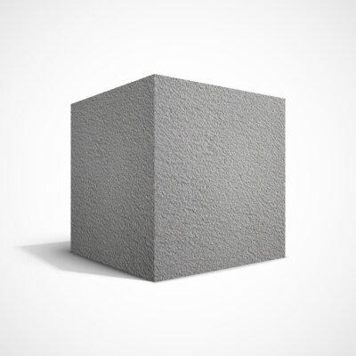 Carta da parati Cubo di cemento