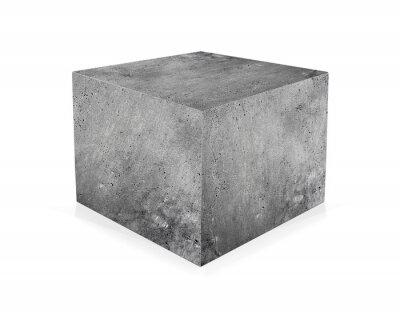 Carta da parati cubo di cemento isolato