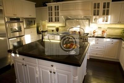 Cucina di lusso con isola moderne. carta da parati • carte da parati ...