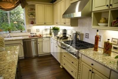 Carta da parati: Cucina di lusso con una moderna stufa a gas.