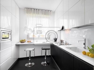 Cucina moderna laminato bianco carta da parati • carte da parati ...