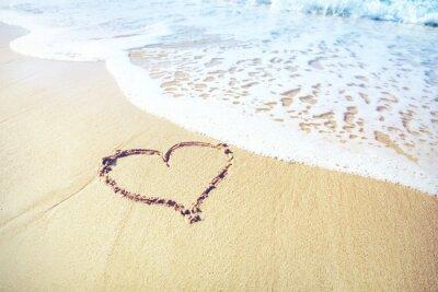 Carta da parati cuore della sabbia