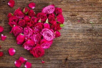 Carta da parati cuore di rose