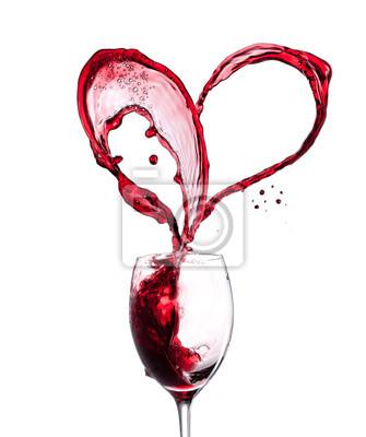 Cuore Vino Rosso Su Sfondo Bianco Carta Da Parati Carte Da Parati