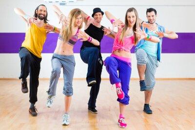 Carta da parati Dancer in Zumba allenamento fitness in studio di danza