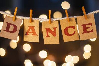 Carta da parati Danza Concetto Clipped Cards e Luci