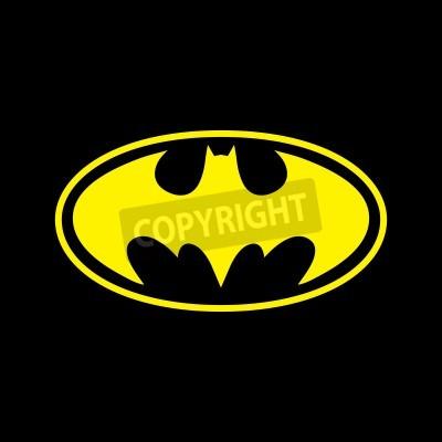 Carta da parati DC comics supereroe Batman logo giallo su sfondo nero