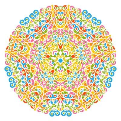 Carta da parati Dekoratives Vektor Element - buntes, florales und abstraktes Mandala Muster, isolato auf weißem sfondo. Colorful Abstract Decorative Pattern - Motif ornato con elementi di design - Sfondi.