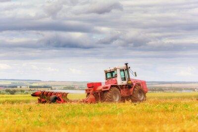 Carta da parati Del trattore sul campo