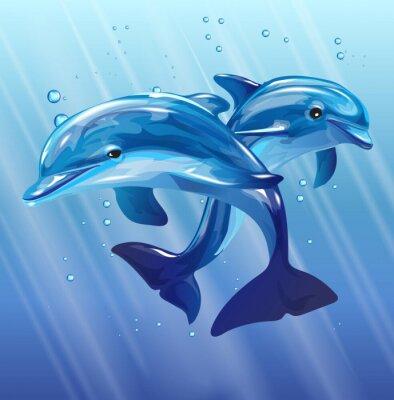 Carta da parati delfini