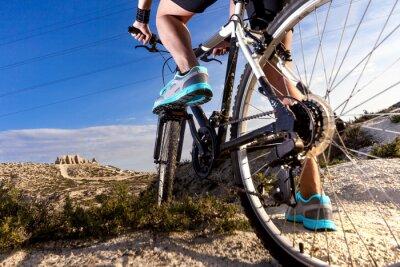 Carta da parati Deportes. Bicicleta de Montaña y hombre.Deporte en esterno