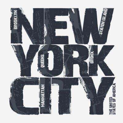 Carta da parati Design di New York City Typography
