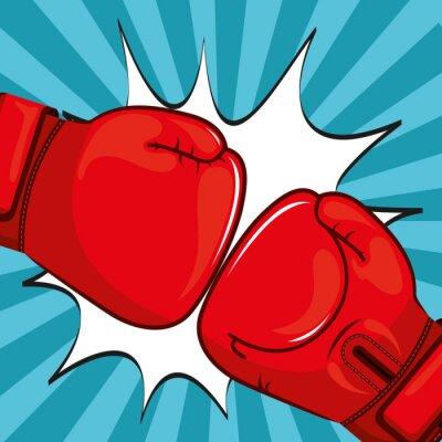Carta da parati Design guantoni da boxe