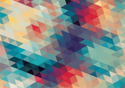 Carta da parati design piatto geometrico retrò sfondo colorato