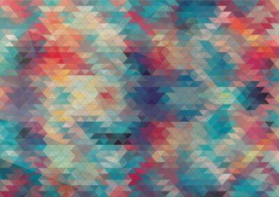 Carta da parati design piatto sfondo geometrico colorato